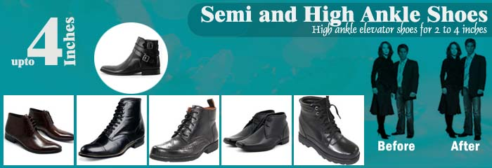 Leather Boots - Hight Ankle Shoes