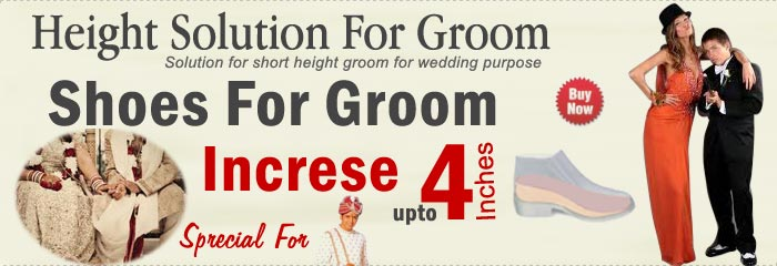 Height Increase Shoes Groom