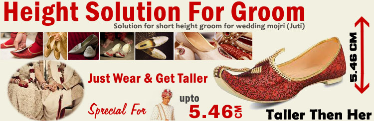 Height Solution For Groom