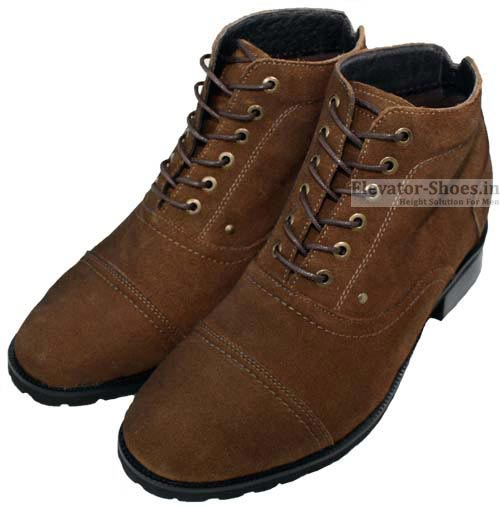 100% Leather Boots - Height Increasing Shoes
